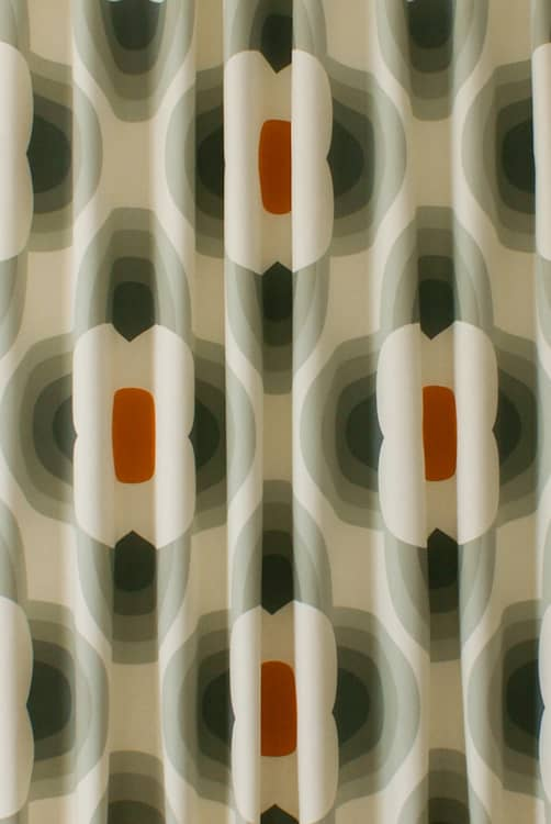Striped Petal Orange Made to Measure Curtains