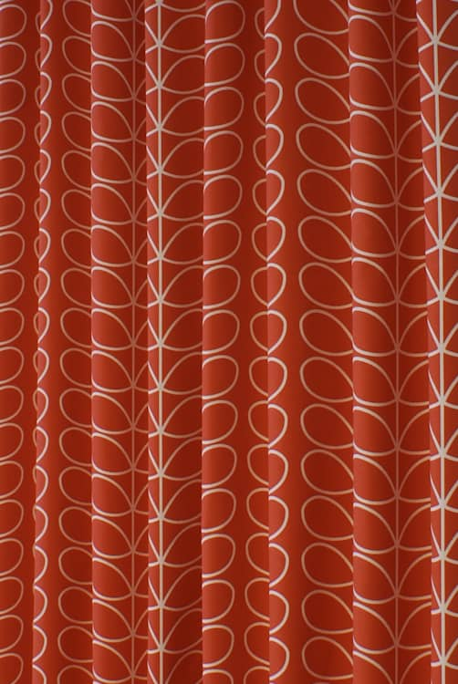 Linear Stem Tomato Curtain Fabric