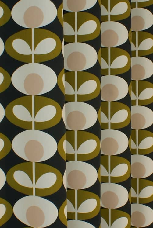 Oval Flower Seagrass Made to Measure Curtains
