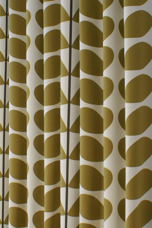 Two Colour Stem Olive Made to Measure Curtains