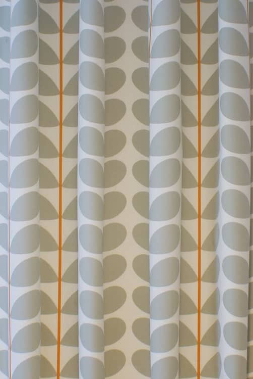 Two Colour Stem Warm Grey Curtain Fabric