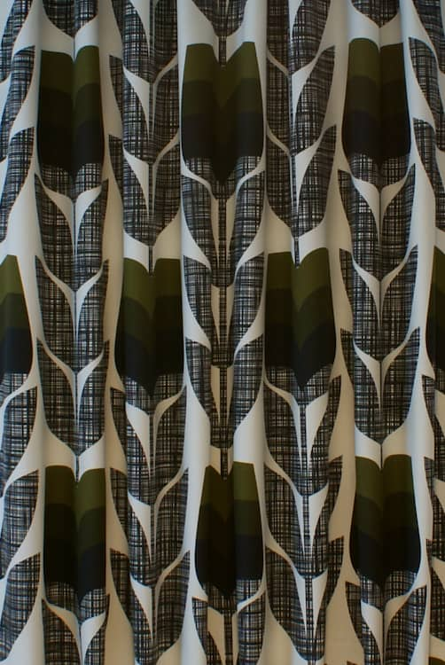 Rosebud Moss Curtain Fabric