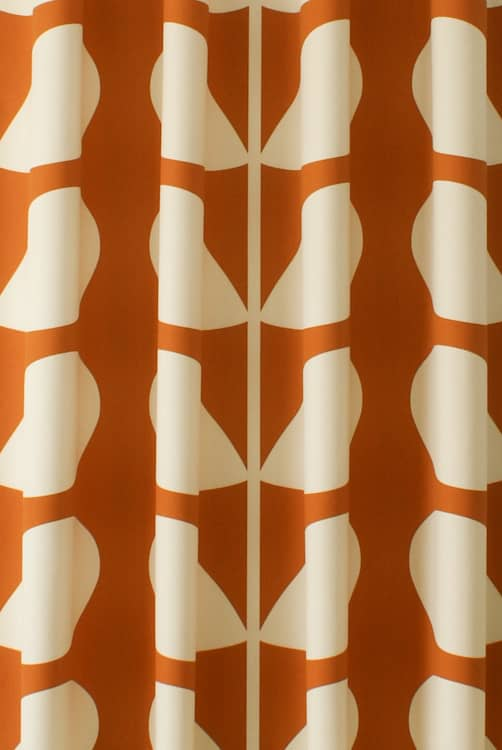 Giant Stem Orange Curtain Fabric