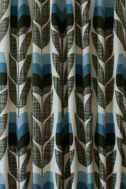 Rosebud Powder Blue Curtain Fabric