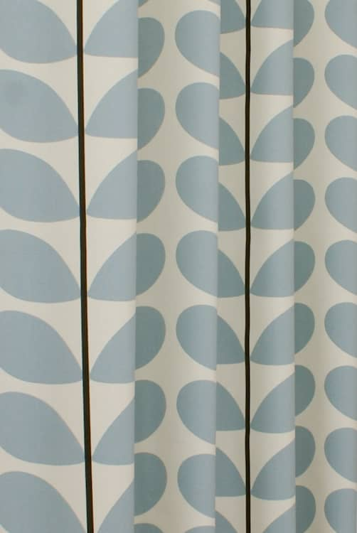 Two Colour Stem Powder Blue Made to Measure Curtains