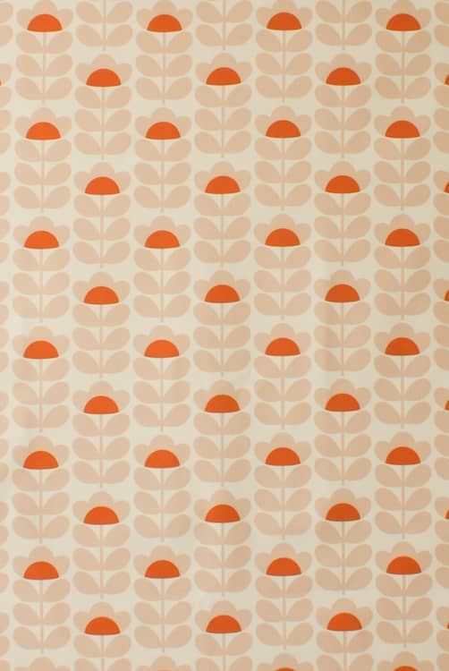 Sweetpea Orange Curtain Fabric