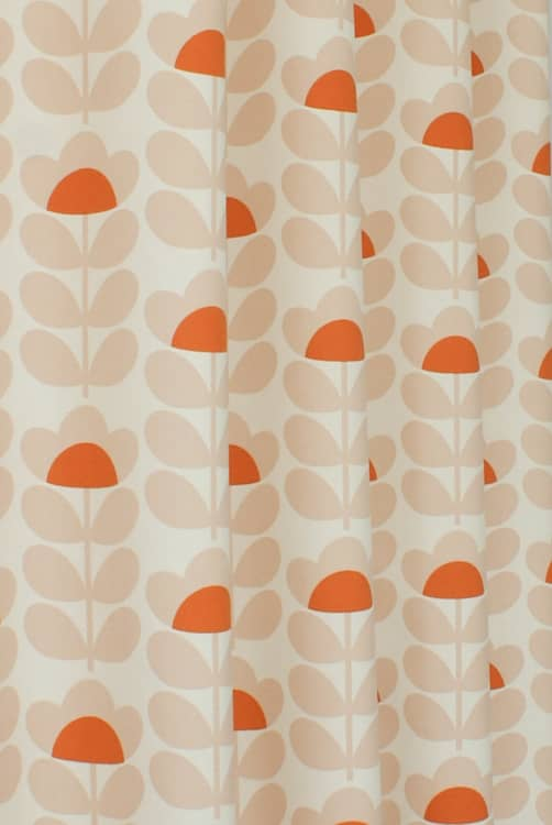 Sweetpea Orange Curtain Accessories