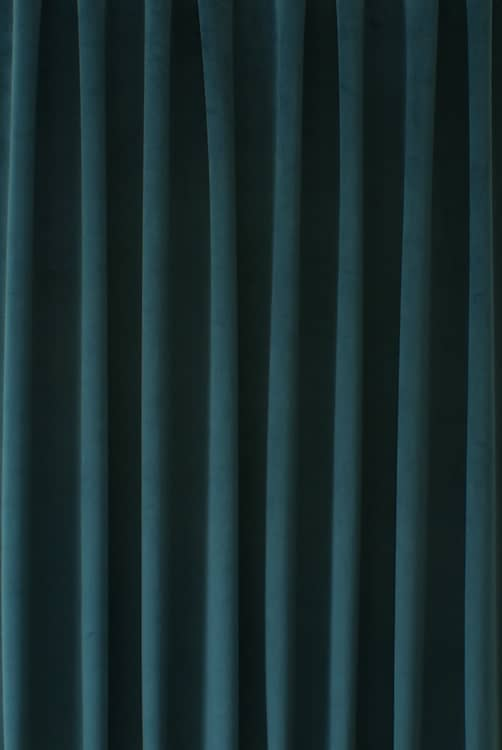 Alaska Velvet Teal Curtain Fabric