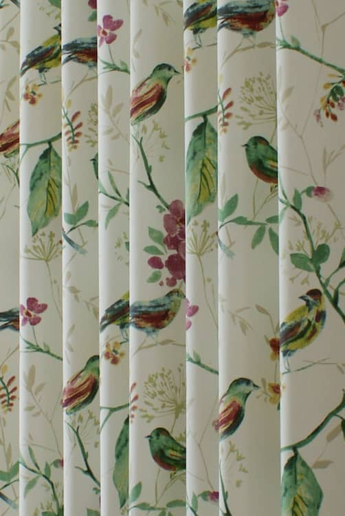 Birdsong Orchid Curtain Fabric