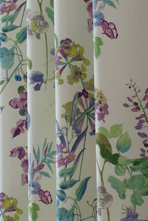 Bougainvillea Wisteria Curtain Fabric