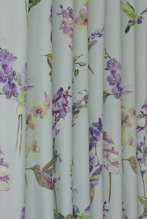 Humming Bird Hyacinth Curtain Fabric