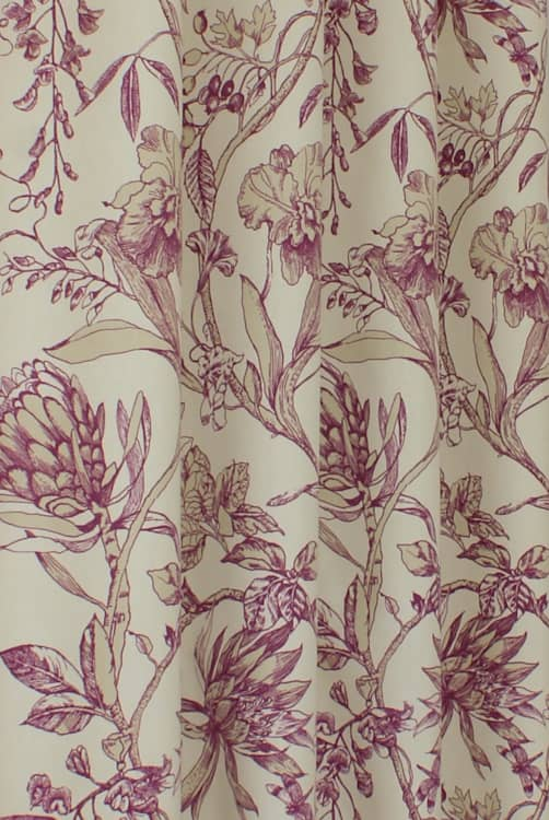 Linley Garnet Curtain Fabric