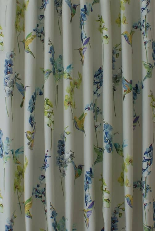 Humming Bird Waterfall Made to Measure Curtains