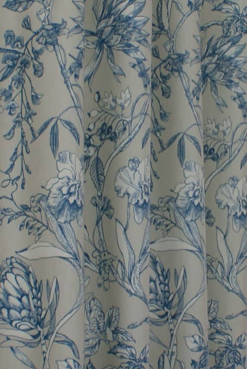 Linley Sapphire Curtain Fabric