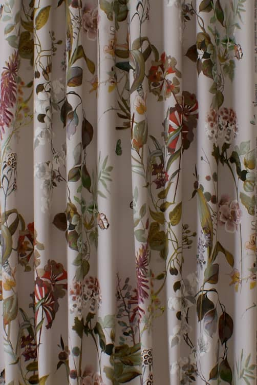 Bougainvillea Rose Quartz Roman Blinds
