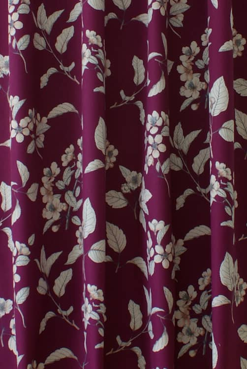 Cherry Blossom Garnet Made to Measure Curtains