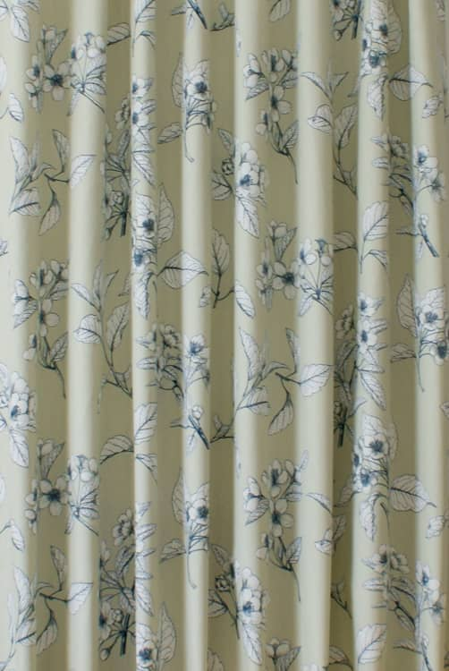 Cherry Blossom Robins Egg Curtain Fabric