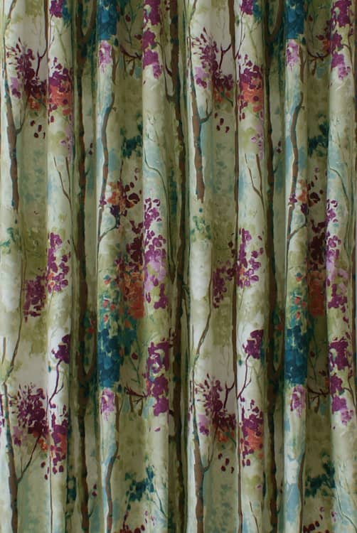 Silver Birch Jewel Curtain Fabric