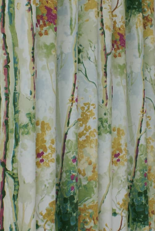 Silver Birch Orchid Curtain Fabric