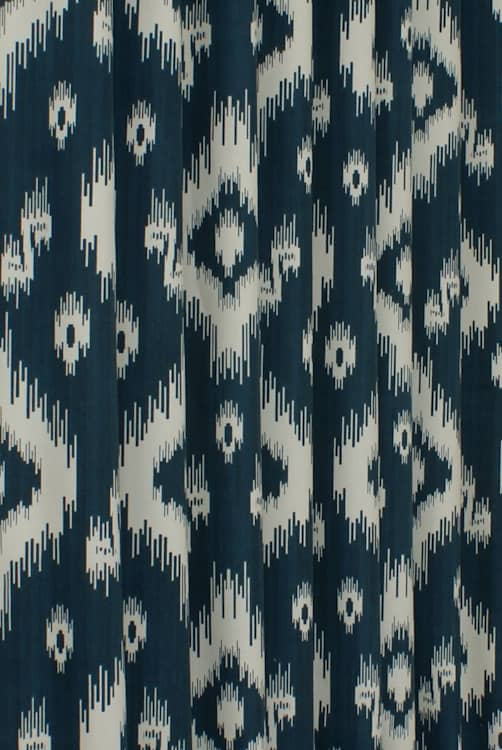 Ikat Indigo Curtain Fabric
