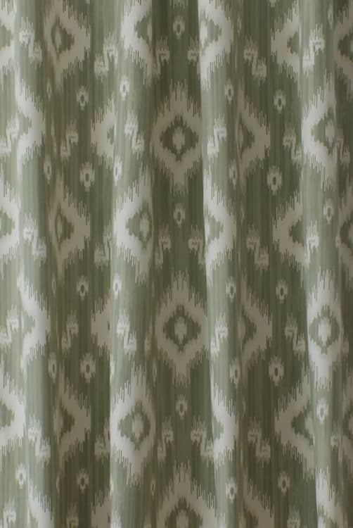 Ikat Soft Green Made to Measure Curtains
