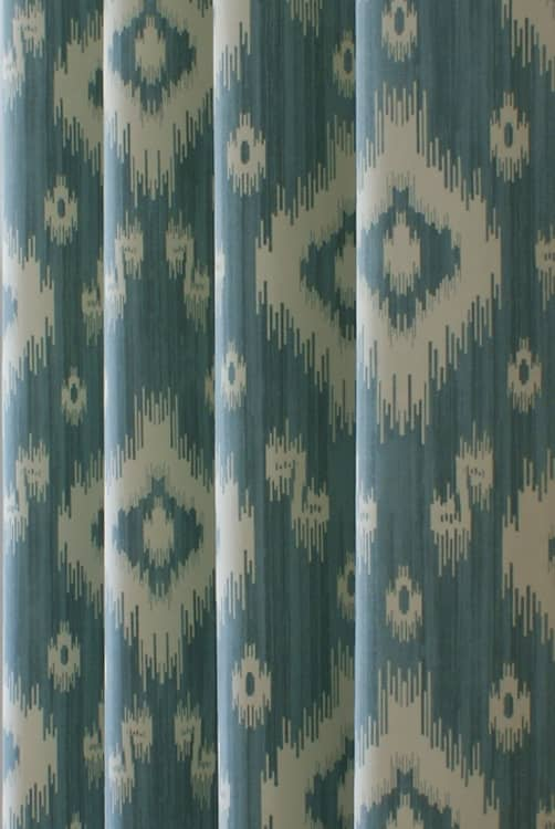 Ikat Duck Egg Roman Blinds