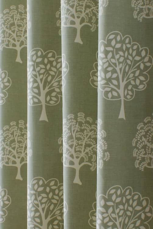 Elveden Soft Green Made to Measure Curtains