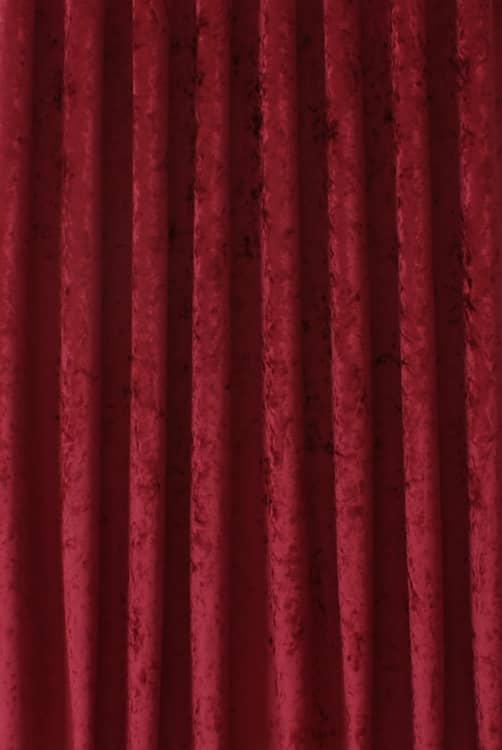 Bling Velvet Claret Curtain Fabric