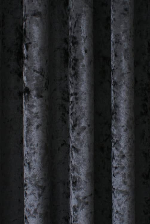 Bling Velvet Graphite Roman Blinds