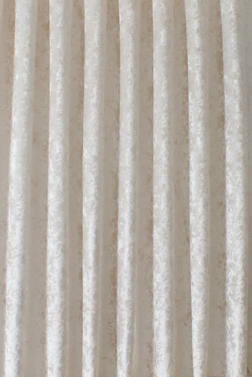 Bling Velvet White Roman Blinds