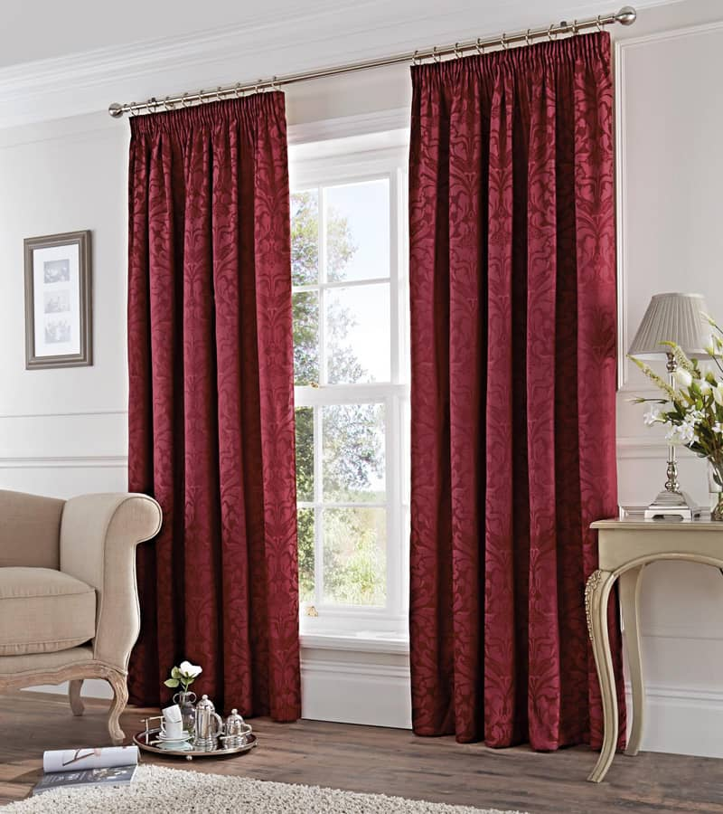 Eastbourne Burgundy Ready Made Curtains