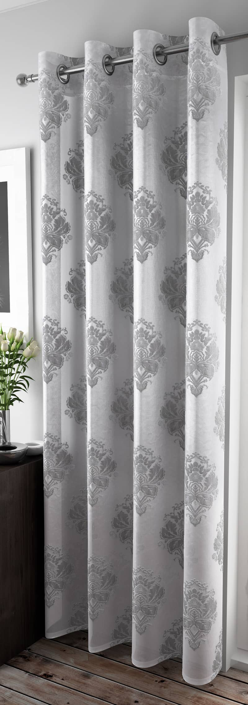 Anika Silver Voiles & Voile Panels