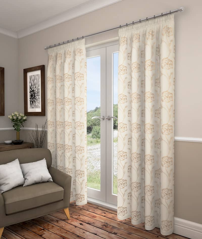 Lotus Champagne Ready Made Curtains