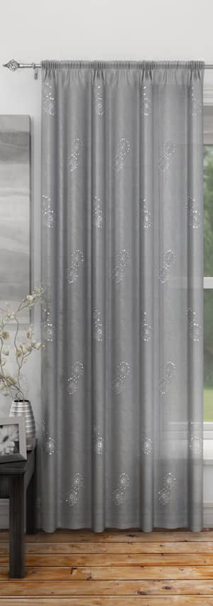 Analise Silver Voiles & Voile Panels