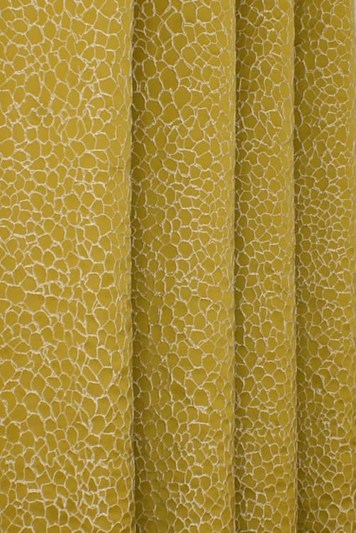Kingley Gold Curtain Fabric