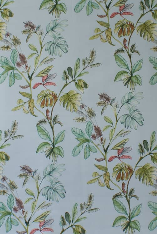 Kew Azure Curtain Fabric