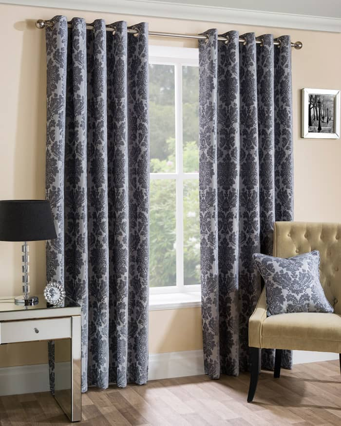 Park Lane Silver Ready Made Curtains
