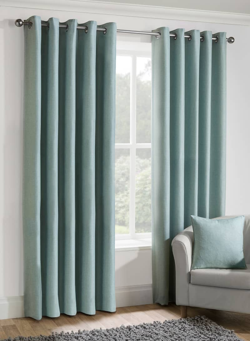 Versailles eyelet Eau de nil Ready Made Curtains