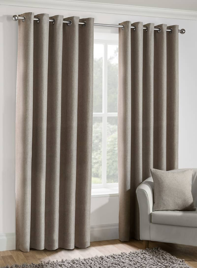 how to shorten ready made eyelet curtains curtain. Black Bedroom Furniture Sets. Home Design Ideas