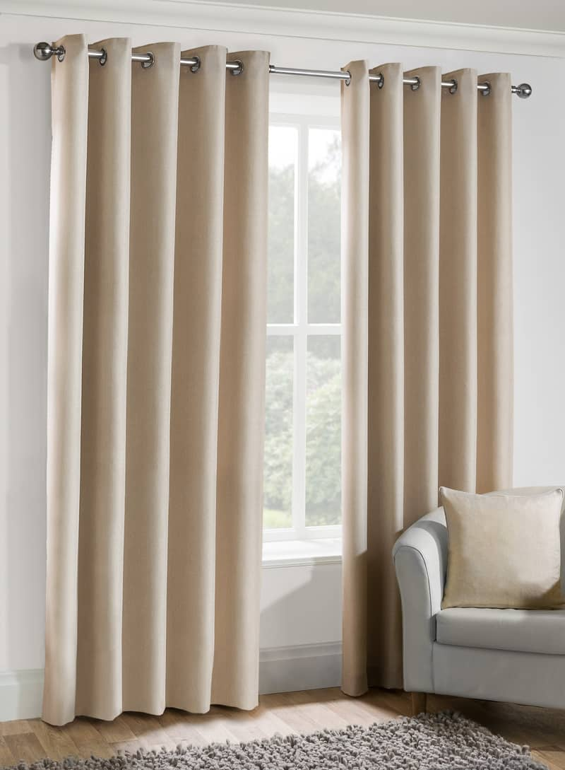 Versailles eyelet Oyster Ready Made Curtains