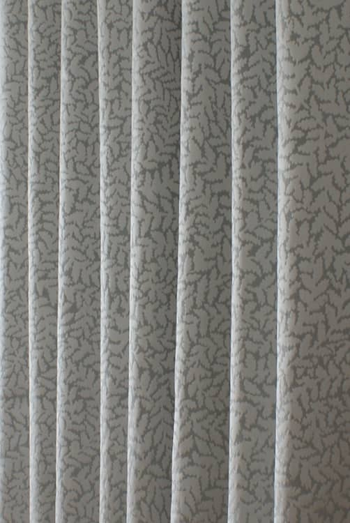 Sinuate Silver Curtain Fabric