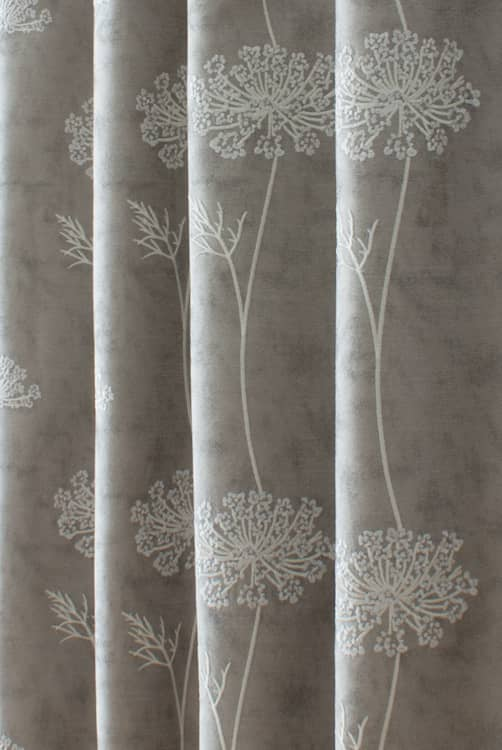 Nedla Taupe Curtain Fabric