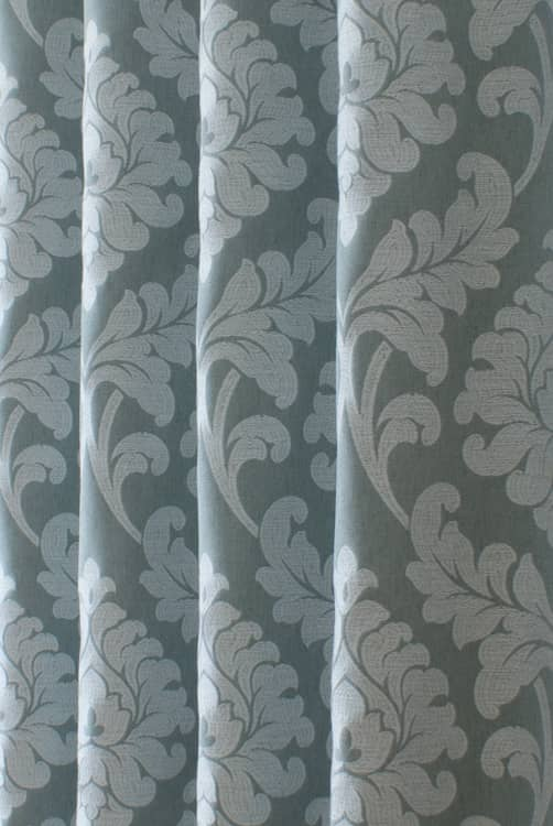 Buckingham Teal Curtain Fabric