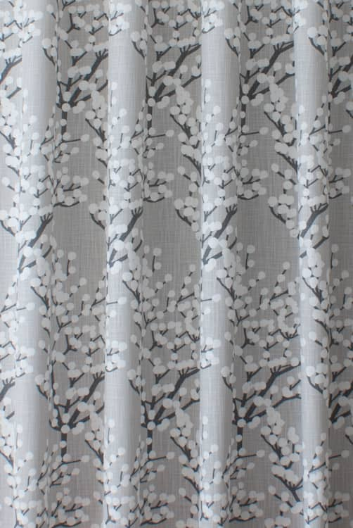 Henning Silver Curtain Fabric