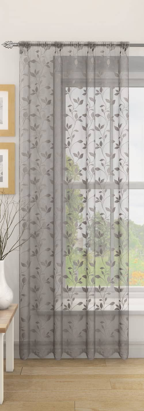 Evie Silver Voiles & Voile Panels