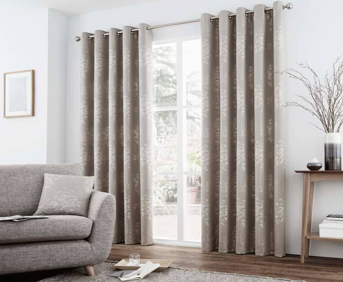 Elmwood Stone Ready Made Curtains