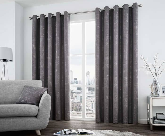 Solent Graphite Ready Made Curtains