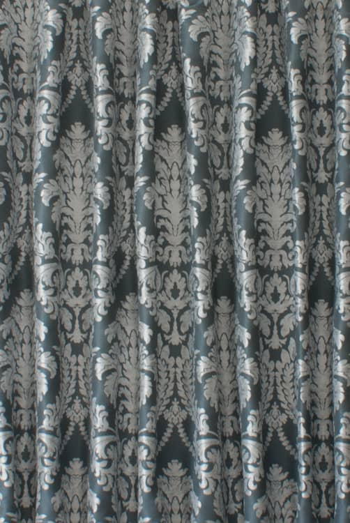 Louella Blue Curtain Fabric