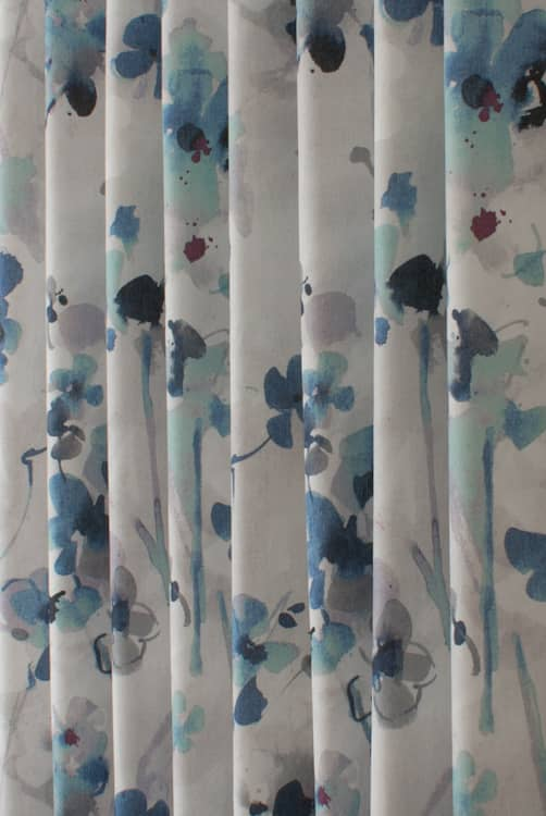 Elsberry Blue Berry Curtain Fabric