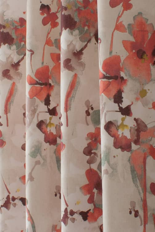 Elsberry Fiery Red Made to Measure Curtains